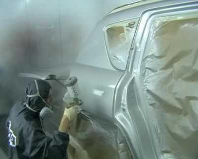 Технология покраски автомобиля требует опытных рук