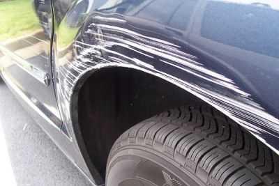 Авто поцарапано