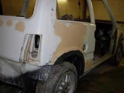 Технология подготовки автомобиля к покраске: шпаклевание кузова