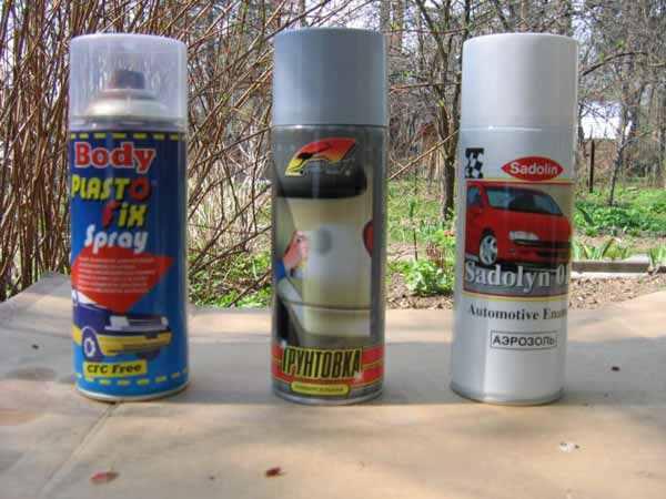 Баллончики для небольшой самостоятельной покраски автомобиля