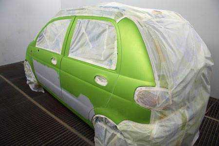 Частичная покраска автомобиля своими руками