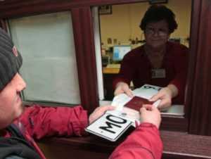Выдача номеров после регистрации авто