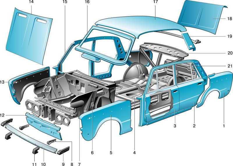 Как устроен кузов вазовской шестерки