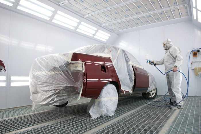 Процесс покраски авто