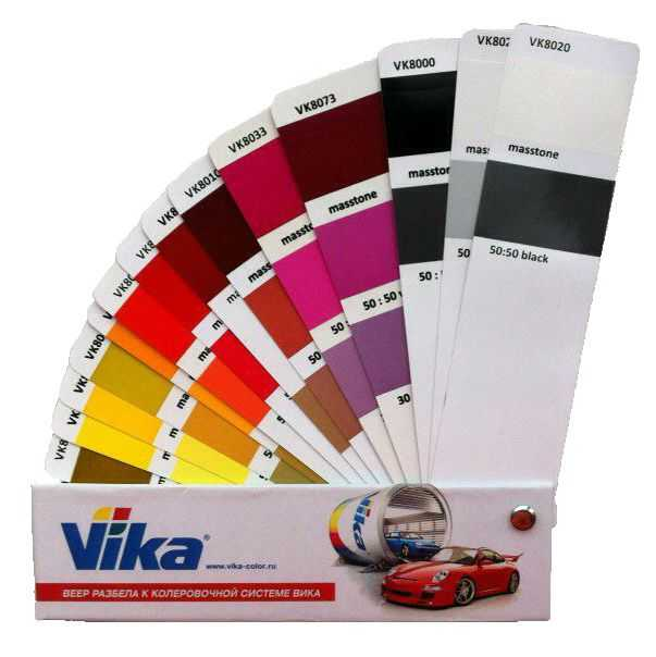 Широкий выбор цветовой гаммы эмалей