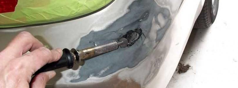 Как запаять трещину на бампере с помощью фена и паяльника в домашних условиях