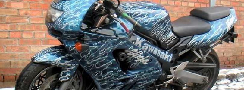 Современный тюнинг транспортного средства: аэрография на мотоцикле своими руками