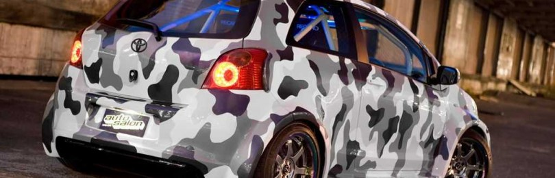 Применение виниловой пленки под камуфляж для автомобиля
