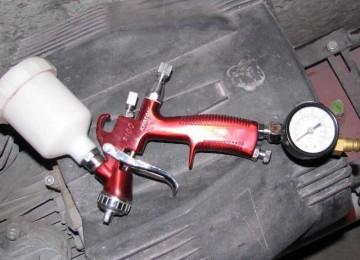 Применение краскопульта типа LVLP для окрашивания автомобиля
