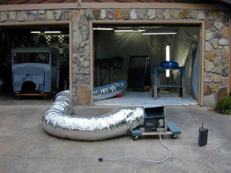 Сушка деталей в гараже