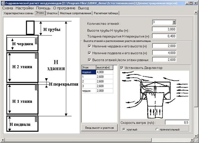 Расчет системы вентиляции