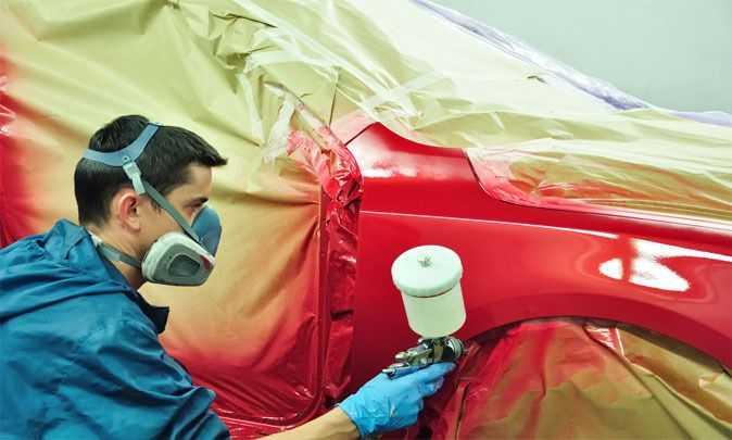 Технология покраски автомобиля: нанесение лака