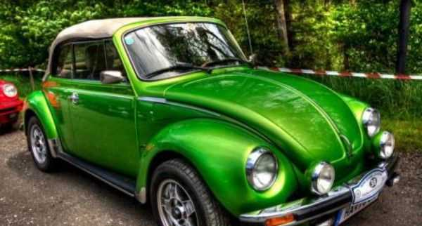 Зеленое авто с перламутром