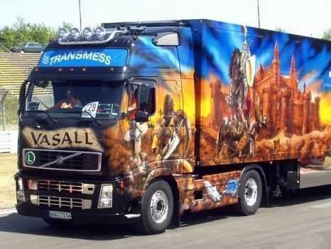 Аэрография грузовика: фото автомобиля №2