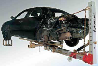 Подъемник для кузовного ремонта автомобиля