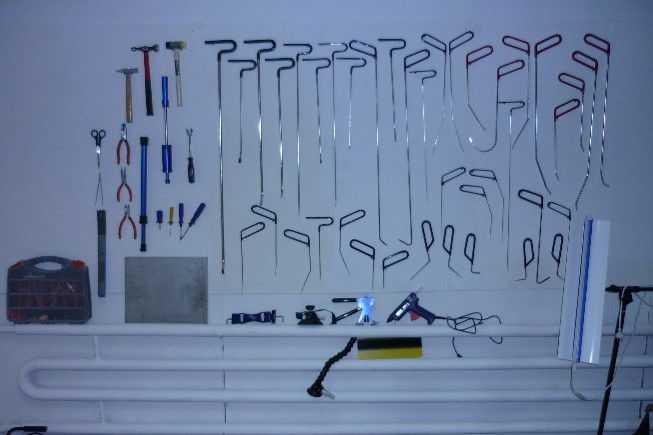 Полный комплект инструментов для кузовного ремонта без покраски