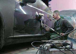 Кузовной ремонт автомобиля с незначительными повреждениями
