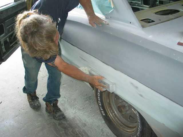 Мелкий кузовной ремонт в собственном гараже