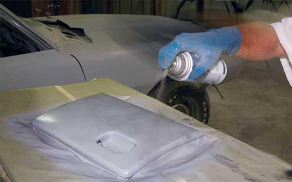 Покраска детали авто баллончиком