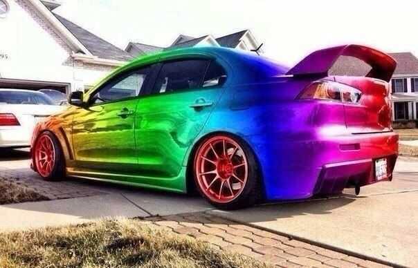Многоцветная покраска
