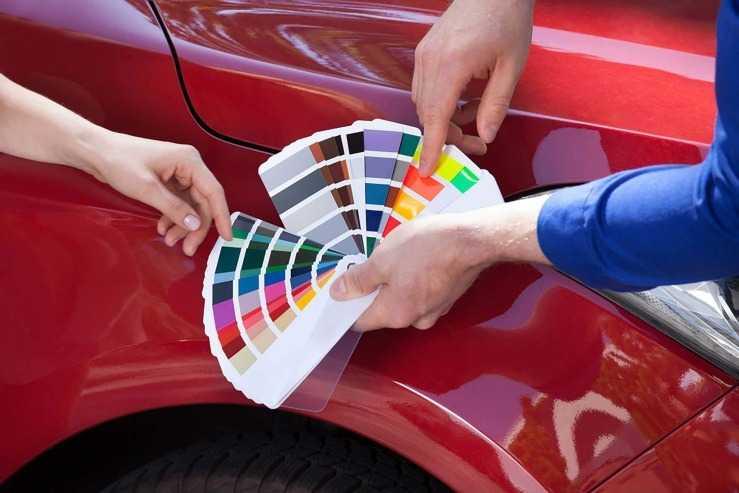 Цветовая палитра автоэмалей