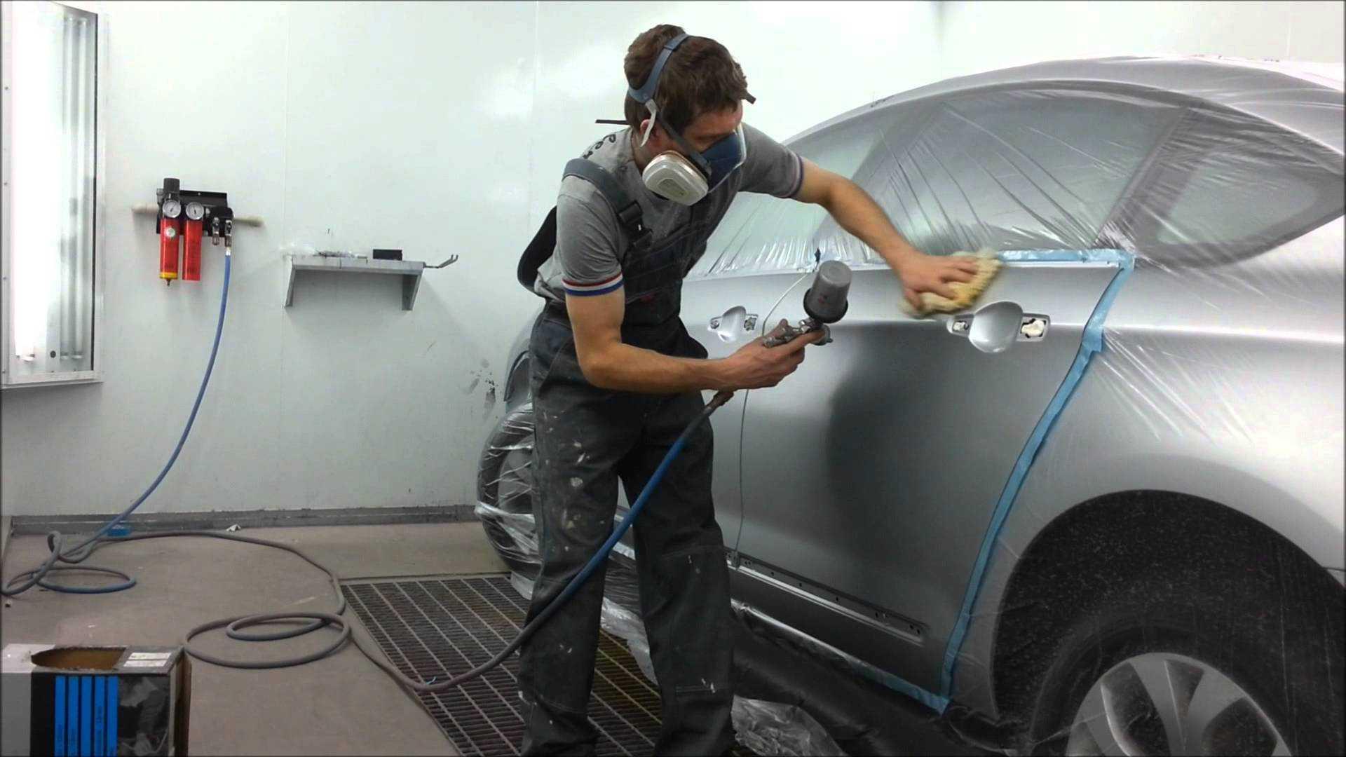 Нанесение краски на кузов автомобиля