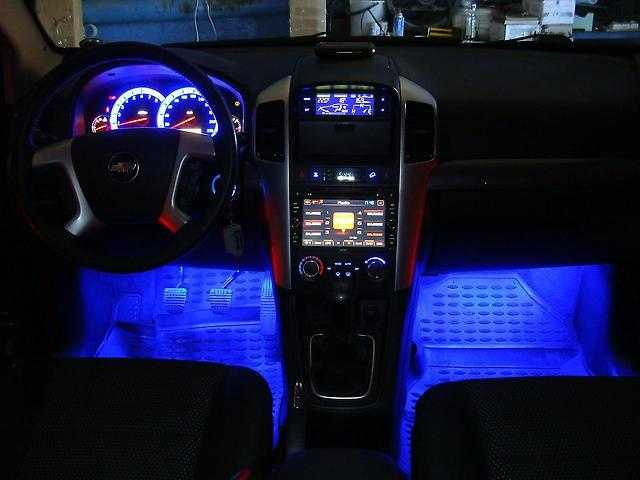 С помощью ленты можно оригинально подсветить салон машины