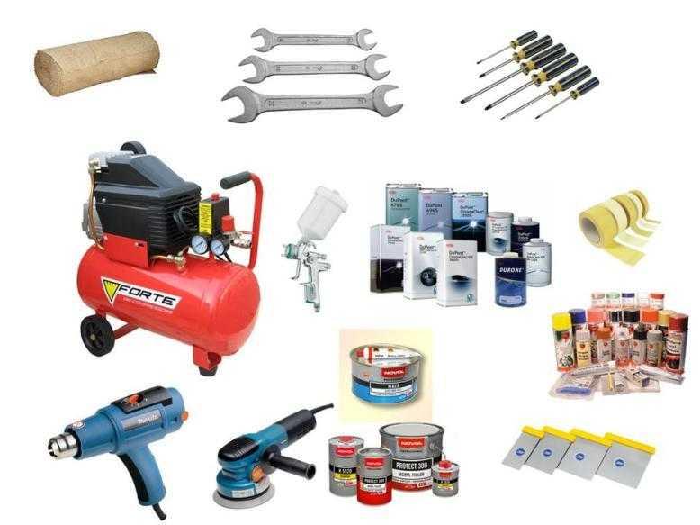Набор инструментов для покрасочных работ