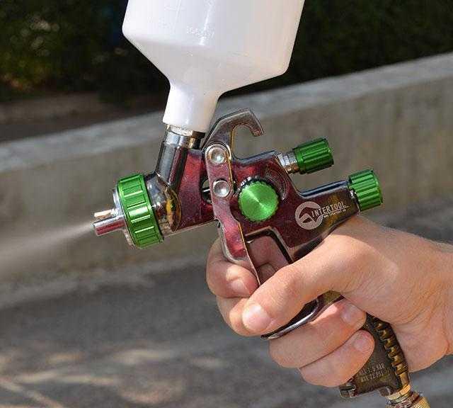 Инструмент можно отрегулировать под нужный поток краски