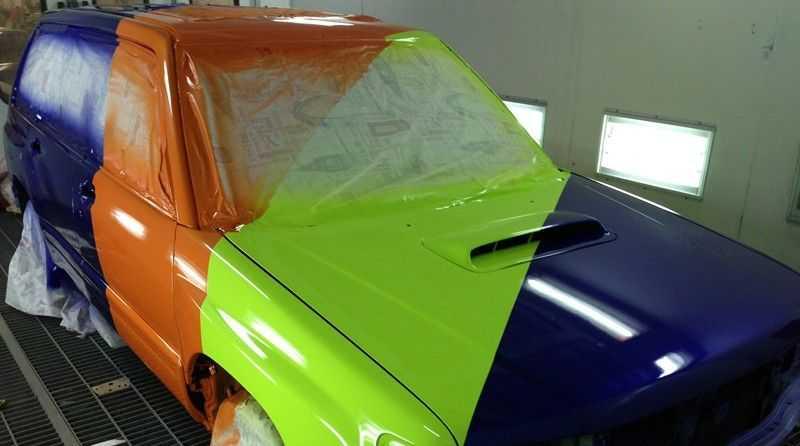 Авто красят с помощью порошковых составов