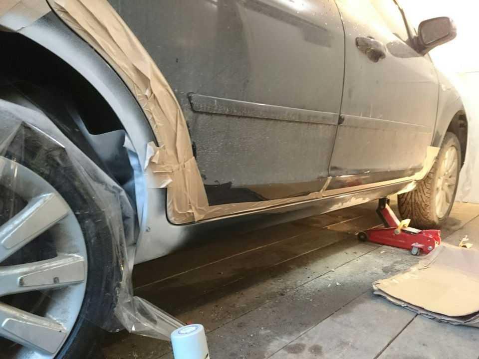 Финишный этап ремонта заключается в покраске кузова