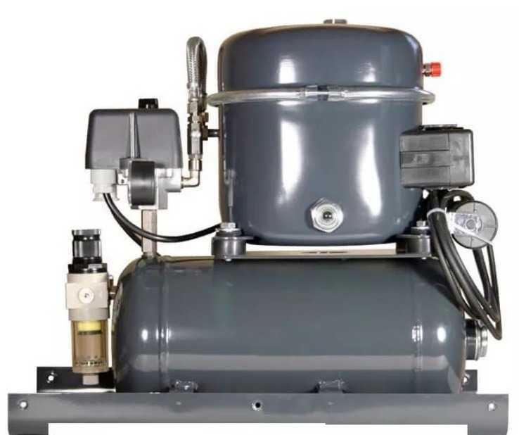 Серый самодельный компрессор