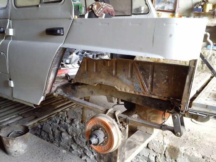Ремонт задней части кузова УАЗ 469