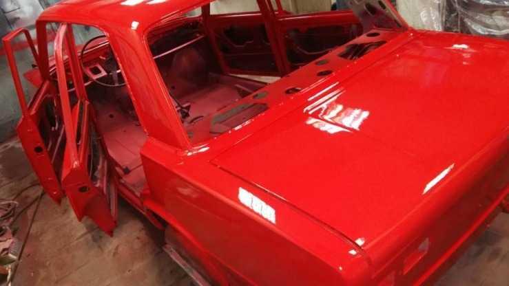 кузов ВАЗ 2101 после покраски