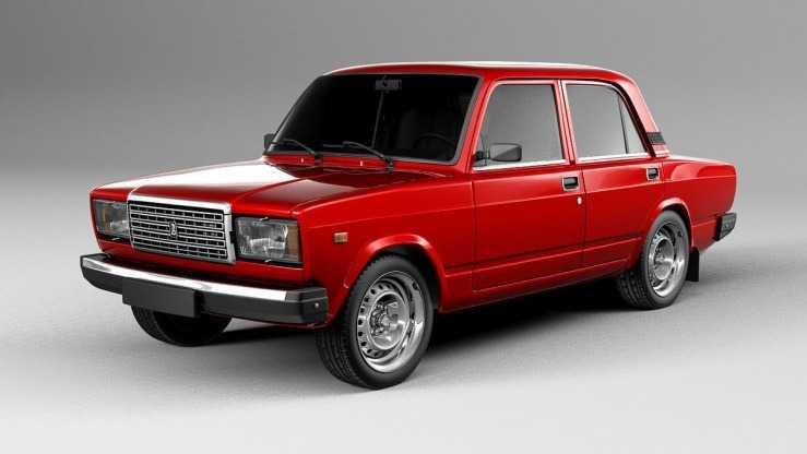 Кузов ВАЗ 2107 красный