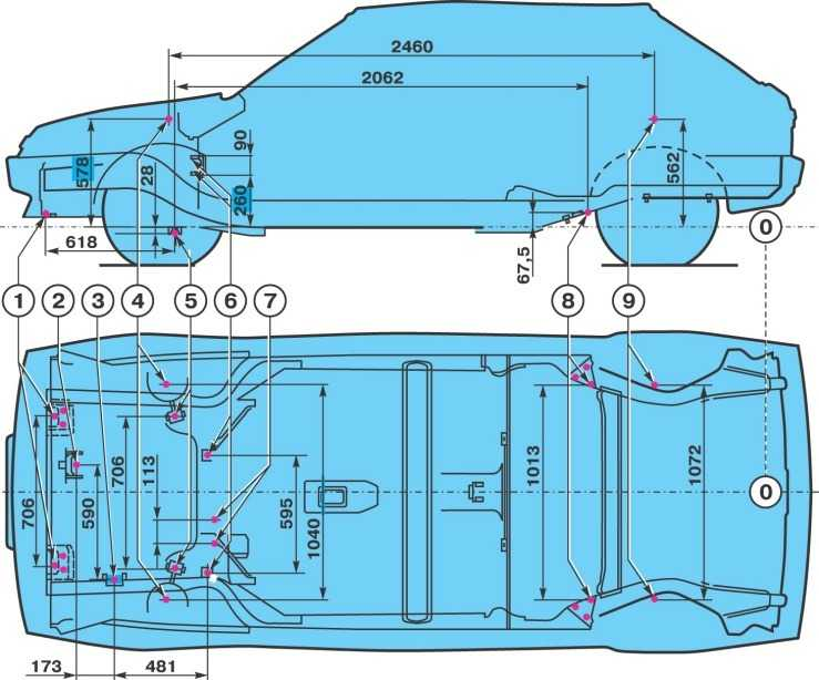 Кузовные рзмеры ВАЗ 2108