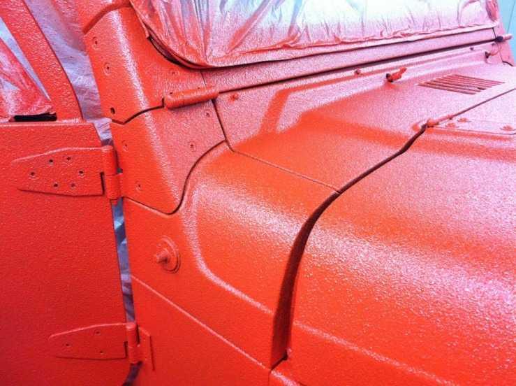 Полиуретановая краска на кузове автомобиля