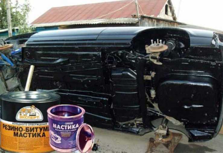 Полимерно битумная мастика для авто