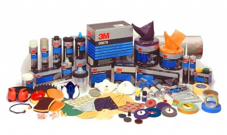 Материалы фирмы 3М для покраски авто