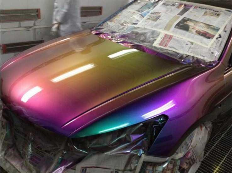 Покраска авто термоэмалью