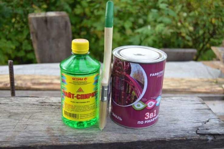 Применение уайт спирита для разбавления краски