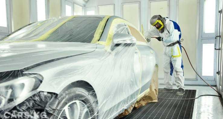 Процесс покраски авто в серебро