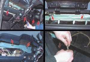 Поднемите панель вверх и на себя и снимите ее с автомобиля.  На этом. процесс снятия панели приборов ваз 2106.